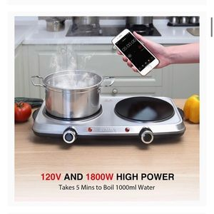 Hot Plates for Cooking, 1800W Electric Double